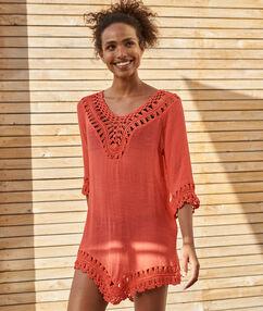 Plážové šaty corail.