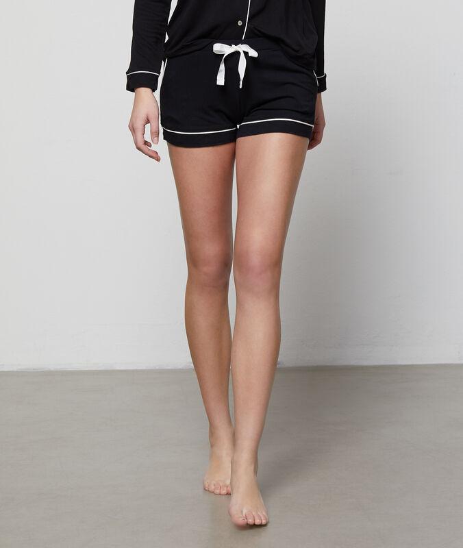 Dvoubarevné nohavičkové kalhotky černá.