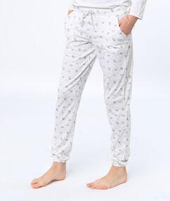 Kalhoty s potiskem panda jednorožec blanc.