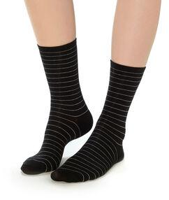 Pruhované ponožky noir.
