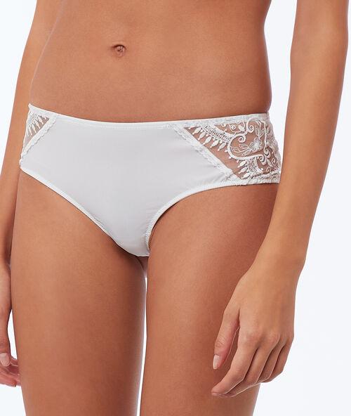 2a3ac10f41a Nohavičkové kalhotky s krajkou a mikrovláknem