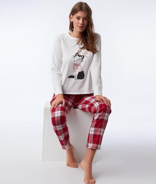 Třídílné pyžamo kočka