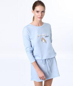 Košilka s potiskem jednorožce bleu.