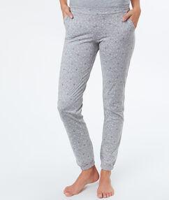 Kalhoty s potiskem gris.