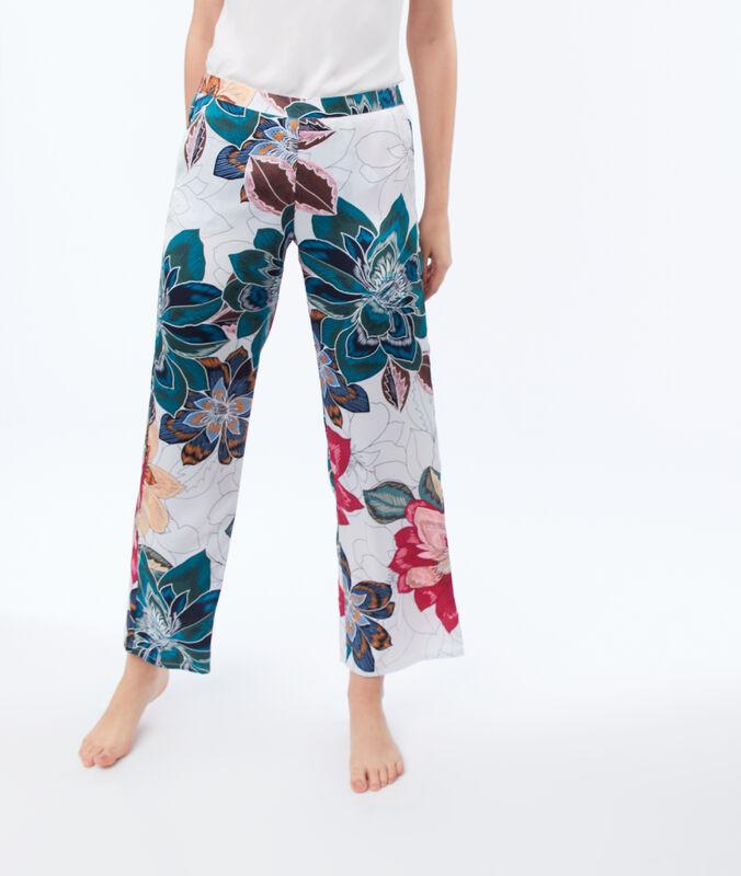 Kalhoty spotiskem béžová.