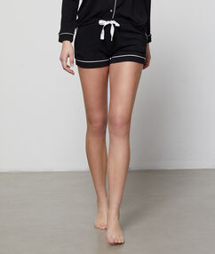 Dvoubarevné šortky černá.