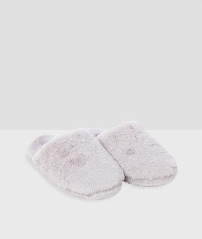 Pantofle skožešinou béžová.
