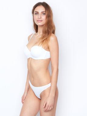 Kalhotky string, mikrovlákno, tepelné švy bílá.