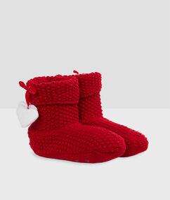 Papuče podšité rouge.