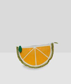 Toaletní taštička ve tvaru citronu žlutá.