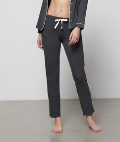 Jemné a pohodlné kalhoty gris.