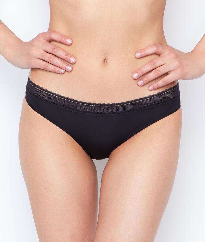 Kalhotky - mikrovlákno a krajka černá.