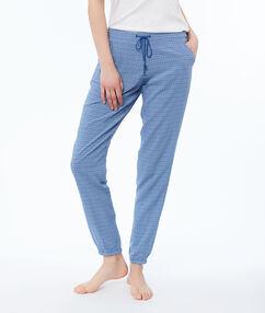 Kalhoty s potiskem modrá.