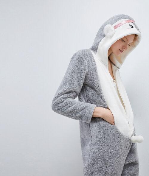 Pyžamová kombinéza tučňák
