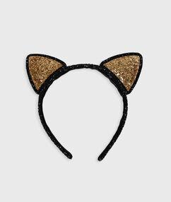 Serre-tête oreilles de chat noir.