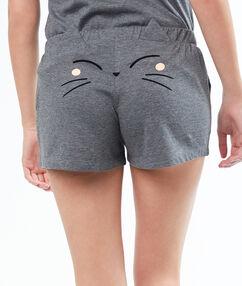 Jednoduché šortky  gris.