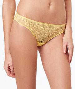 Krajkové kalhotky jaune acidule.