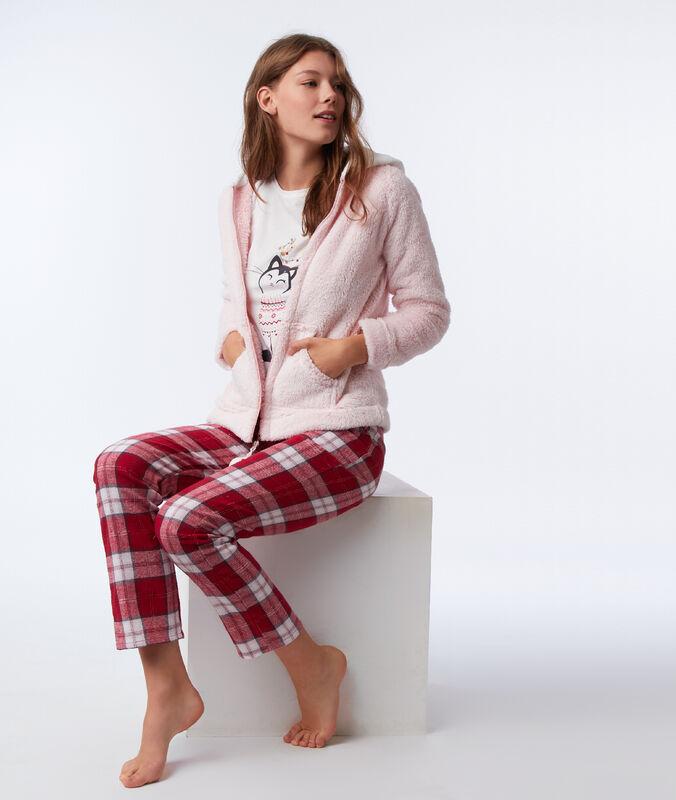 Třídílné pyžamo kočka růžová.