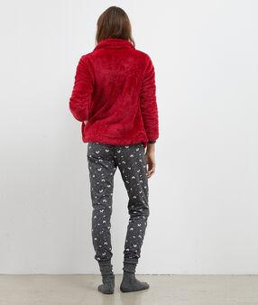 Třídílné pyžamo červená.