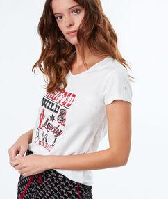 Tričko s potiskem blanc.
