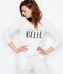 Tričko s nápisem blanc.