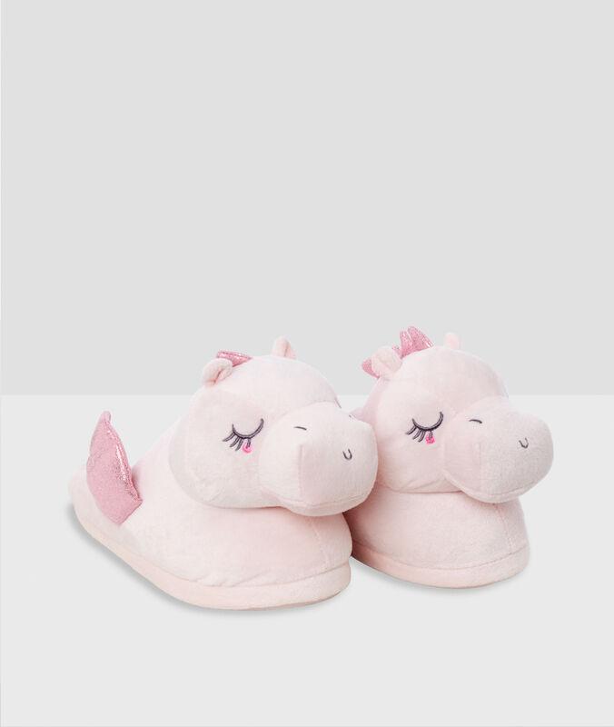 3d dračí papuče růžová.