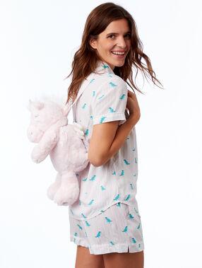 Batůžek na pyžamo ve tvaru dinosaura béžová.