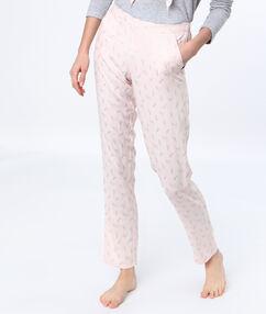 Kalhoty s potiskem taneční boty rose.