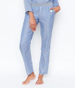 Pruhované kalhoty modrá.