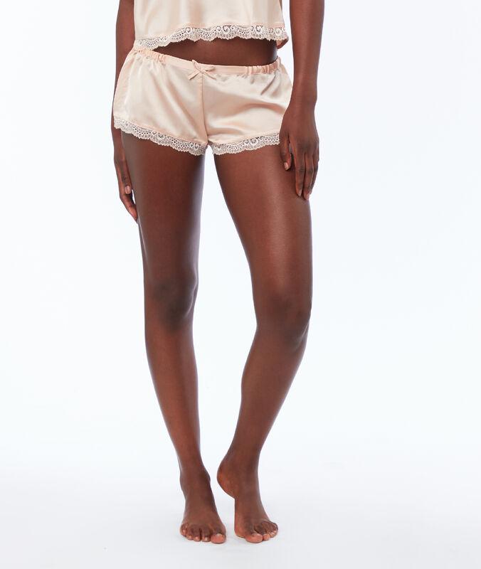 Saténové nohavičkové kalhotky pudrově růžová.