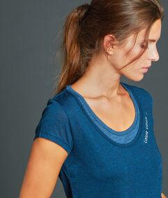Sportovní triko efekt 2 v 1 bleu.