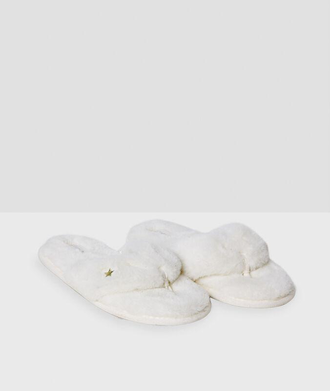 Papuče bílá.