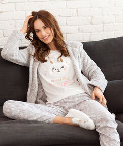3 dílné pyžamo ecru.