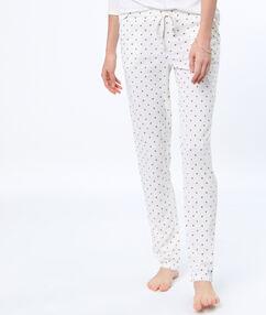 Kalhoty s potiskem bílá.