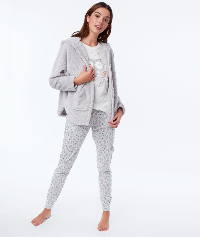 Třídílné pyžamo sova šedá.