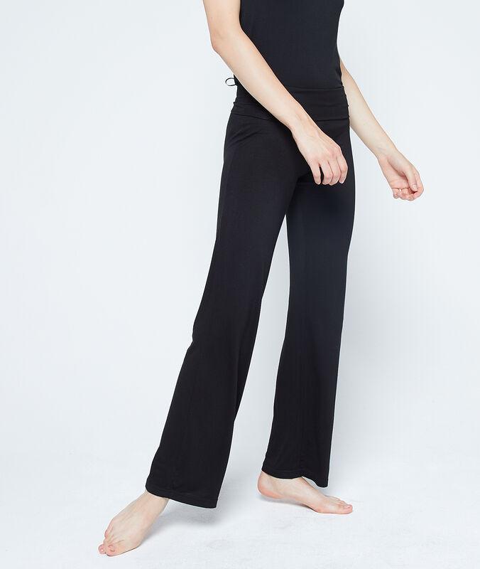 Volné kalhoty viskózové černá.