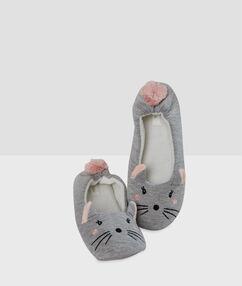 Papuče myši gris.
