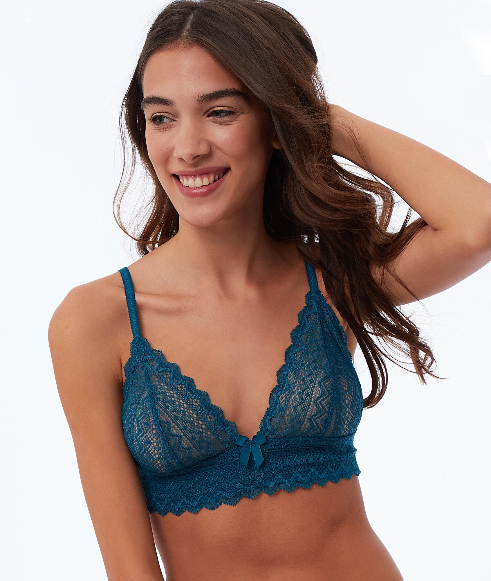 063075c0a4486 Lace triangle bra - Etam