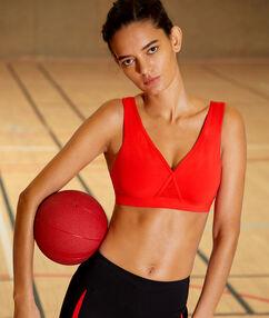 Sportovní brassiere, vyjímatelné vycpávky and zkřížená záda  - lehké podpora rouge.