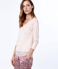 Tričko s krajkou rose.
