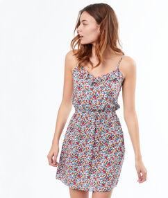 Košilka s květovým vzorem ecru.