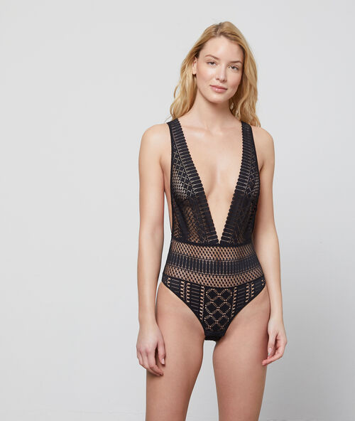 470caf4d9d ornate openwork lace bodysuit - 102 years