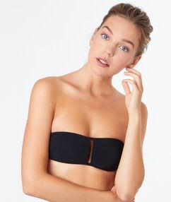 Horní díl plavek bandeau bez kostic  černá.