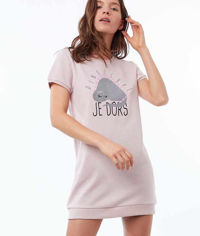 Noční tričko xl matně růžová.
