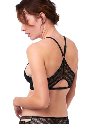d7c2c79fedb50 Bra No. 5 - Classic padded lace bra with racer back - Etam
