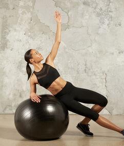 Sportovní podprsenka sodnímatelnými pěnovými vložkami – silné zpevnění černá.