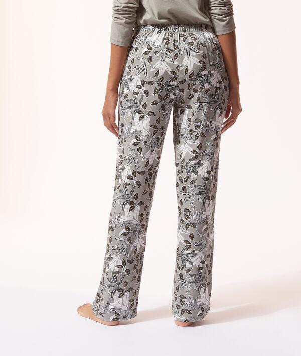 Pyžamové kalhoty s květinovým potiskem;${refinementColor}