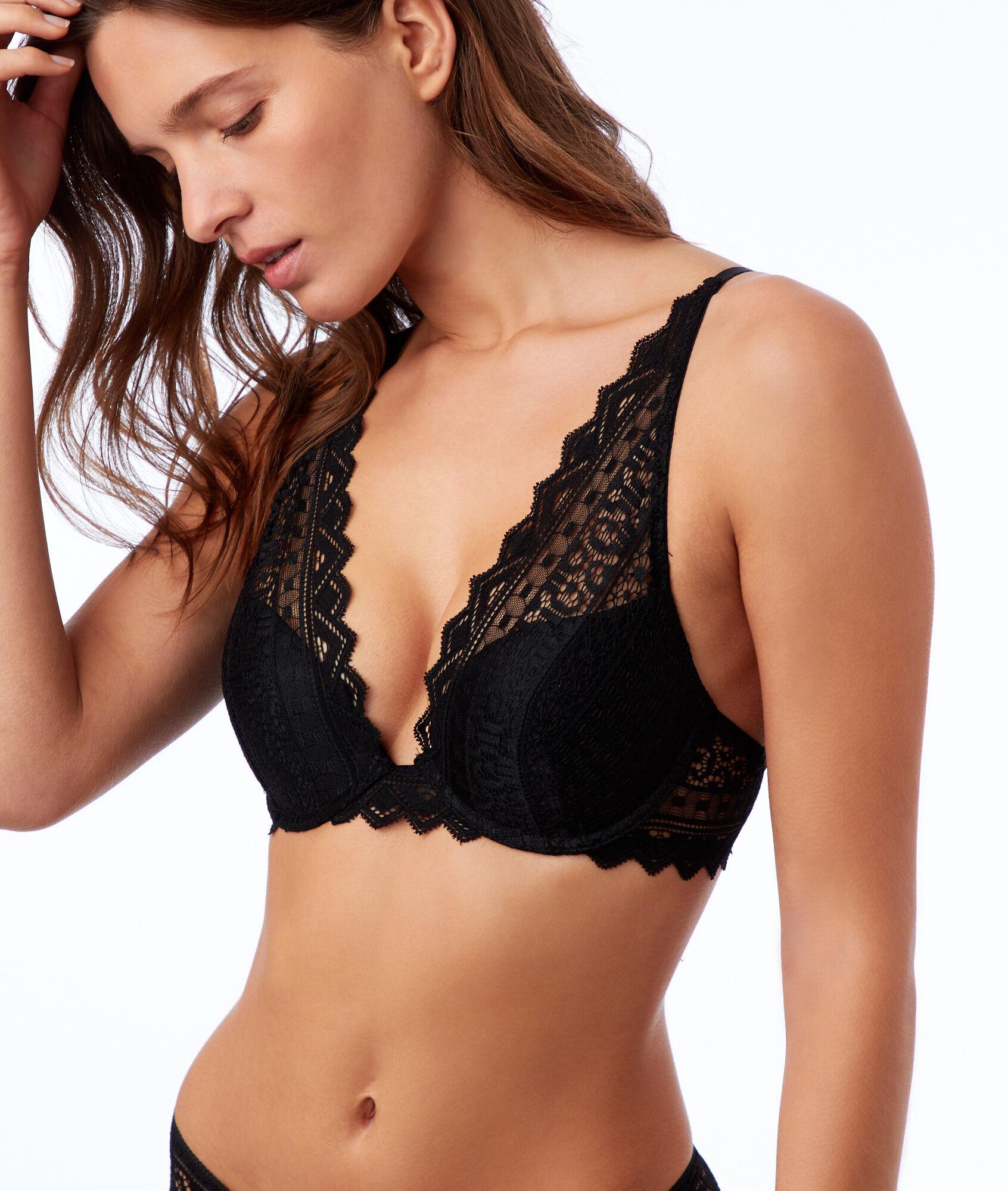bf856a7709 Bra No. 3 - Lace triangle push-up bra - Etam