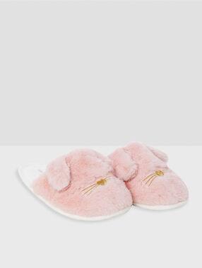 Papuče skrálíky růžová.
