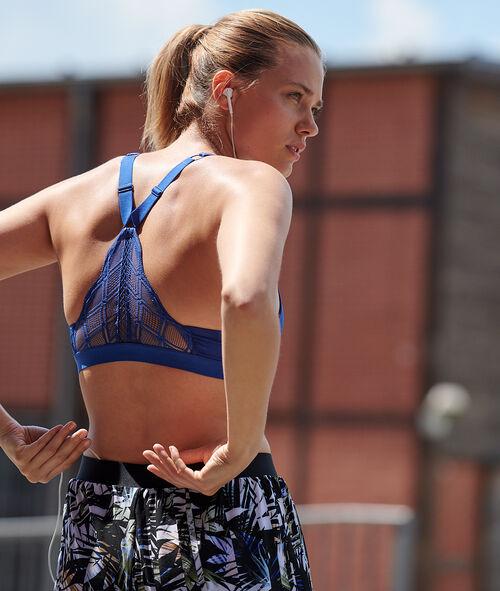 Sportovní podprsenka propracovaná záda - silná podpora